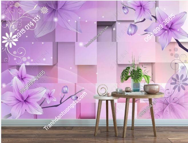 Tranh hoa 3D hiện đại DS_12420322