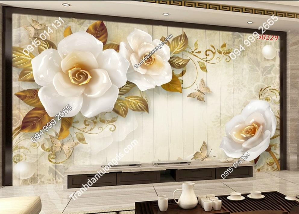 Tranh hoa 3D hiện đại hot 50229