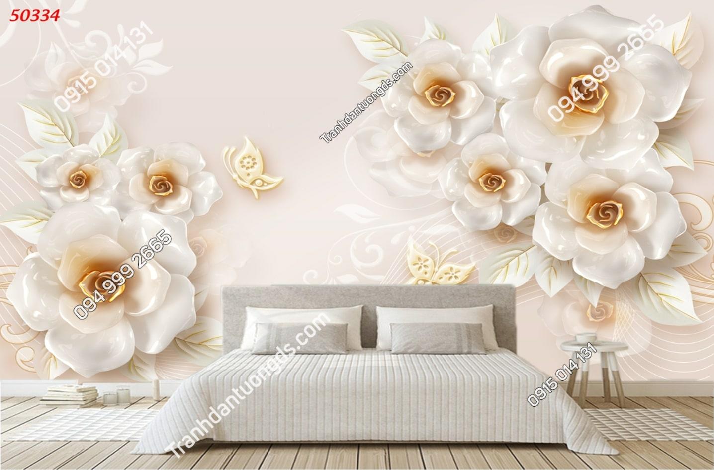 Tranh hoa 3D hiện đại hot 50334