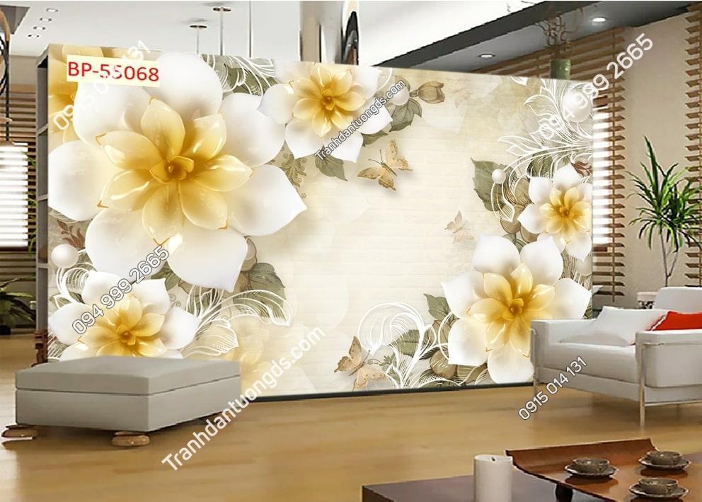 Tranh hoa 3D hiện đại hot 55068Tranh hoa 3D hiện đại hot 55068
