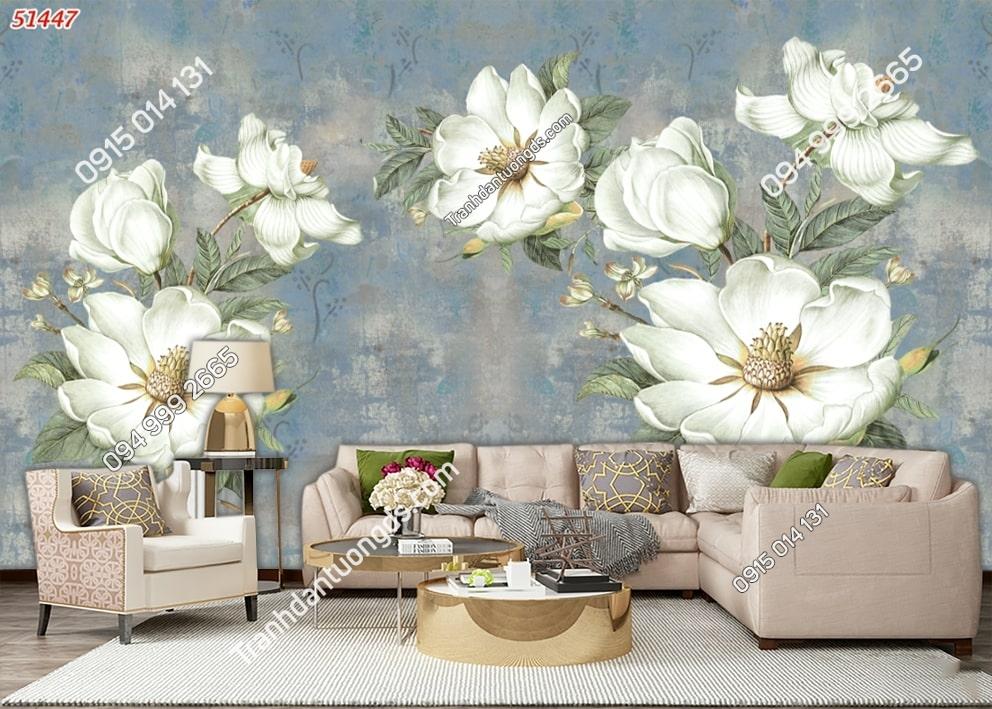 Tranh hoa 3D hiện đại kiểu vẽ 51447