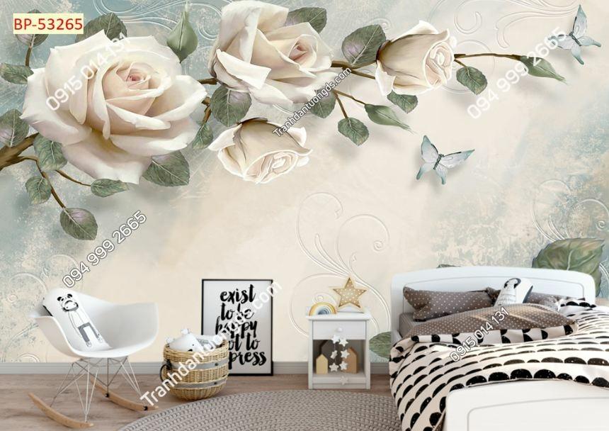 Tranh hoa 3D nhẹ nhàng cho phòng ngủ 53265