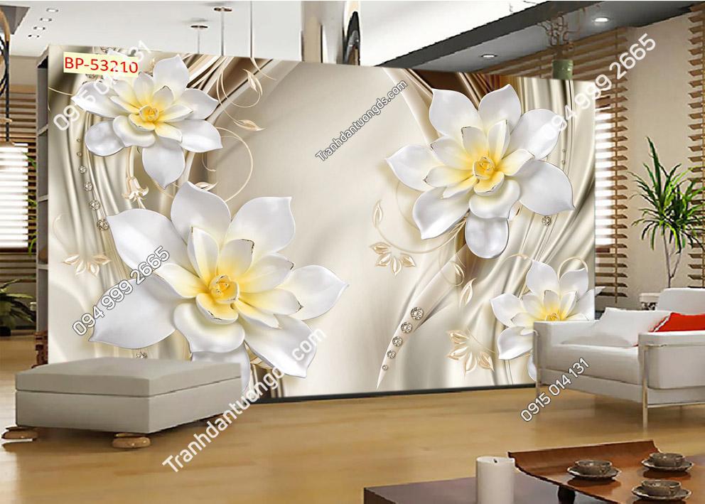Tranh hoa 3D và đá quý 53210