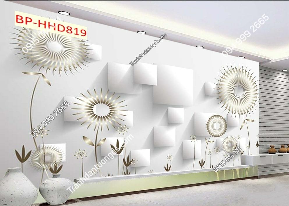 Tranh hoa bồ công anh trắng HHD819