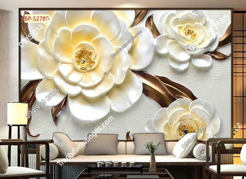 Tranh hoa cánh trắng 3D 52780