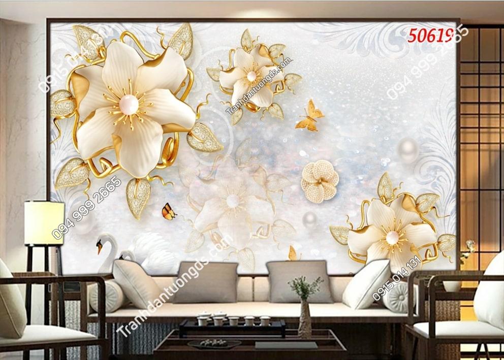Tranh hoa đá quý 3D 50619