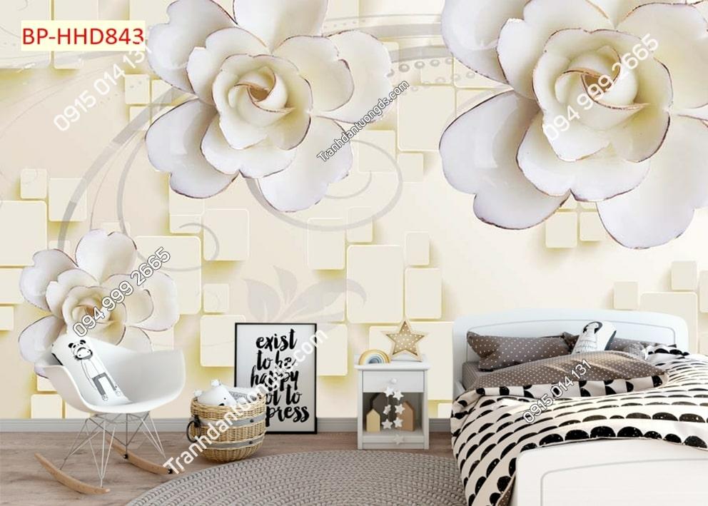 Tranh hoa dán đầu giường HHD843