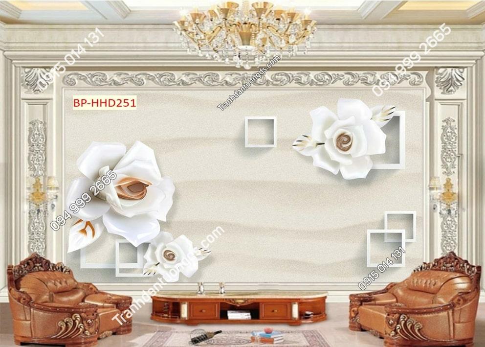 Tranh hoa đơn giản HHD251