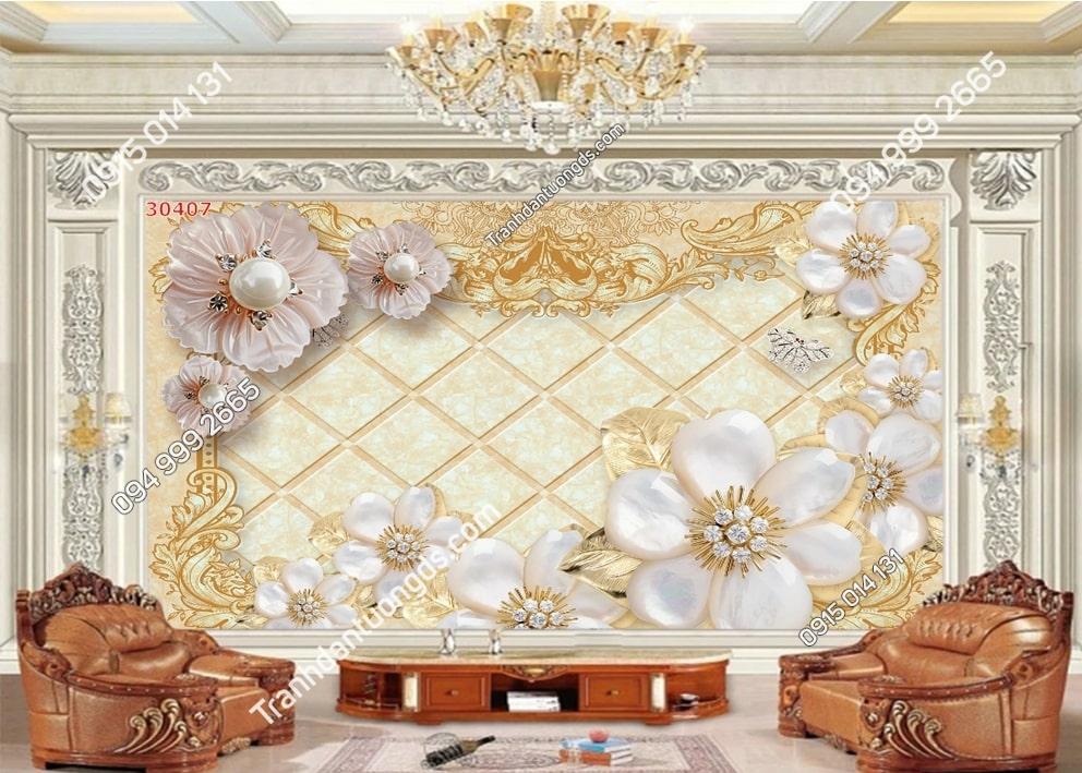 Tranh hoa giả ngọc 3D 30407