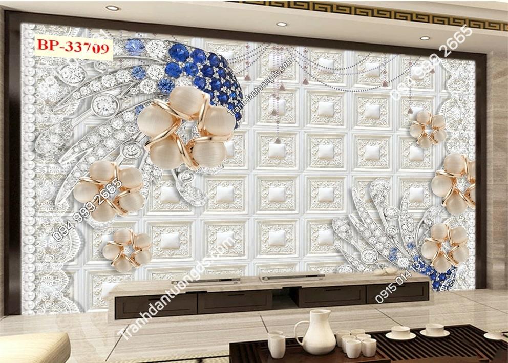 Tranh hoa giả ngọc 3D 33709