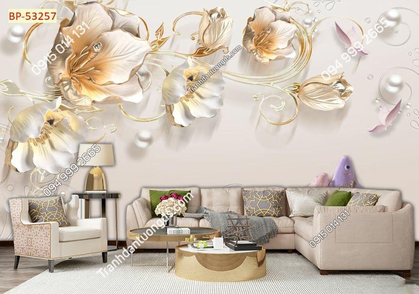 Tranh hoa giả ngọc 3D 53257