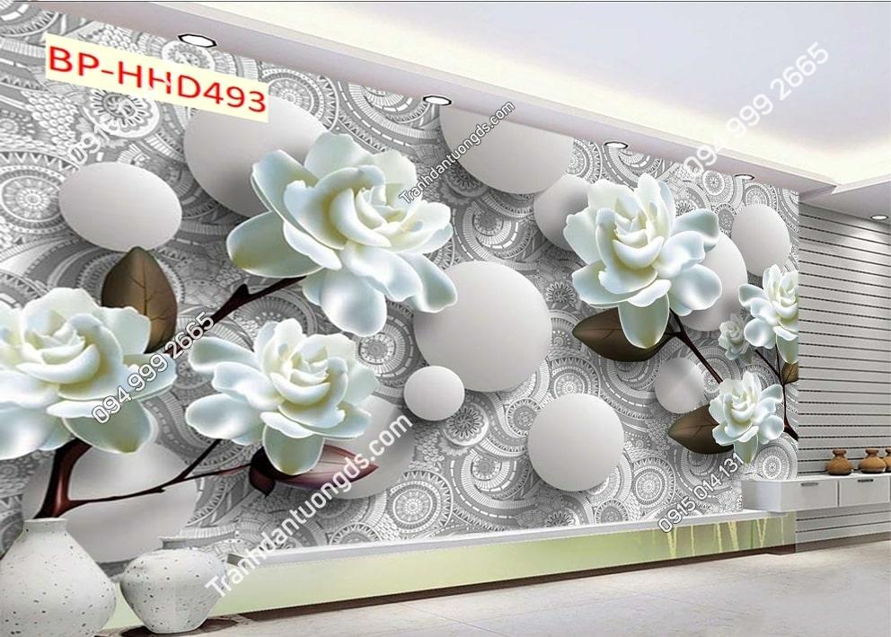 Tranh hoa giả ngọc 3D HHD493