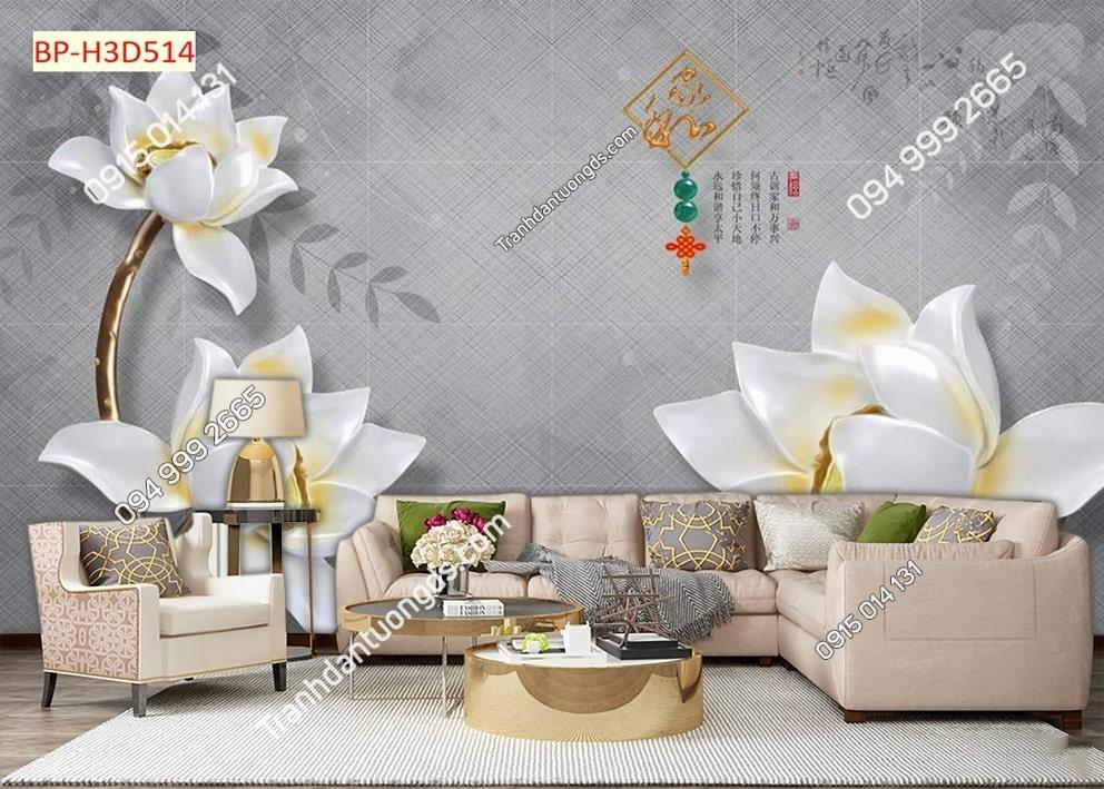 Tranh hoa giả ngọc H3D514