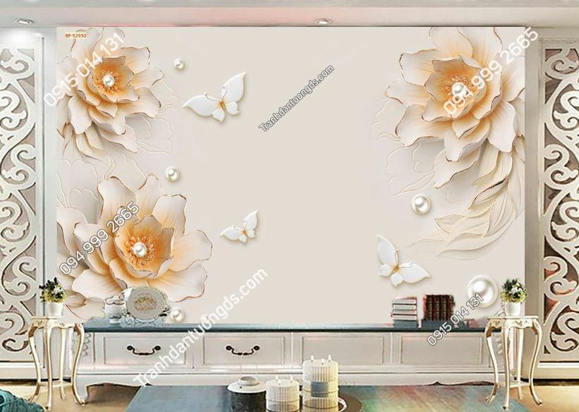 Tranh hoa giả ngọc trai 52950