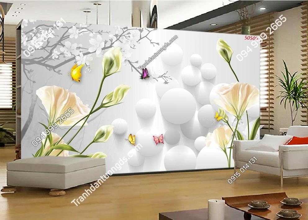 Tranh hoa hiện đại 3D 50509