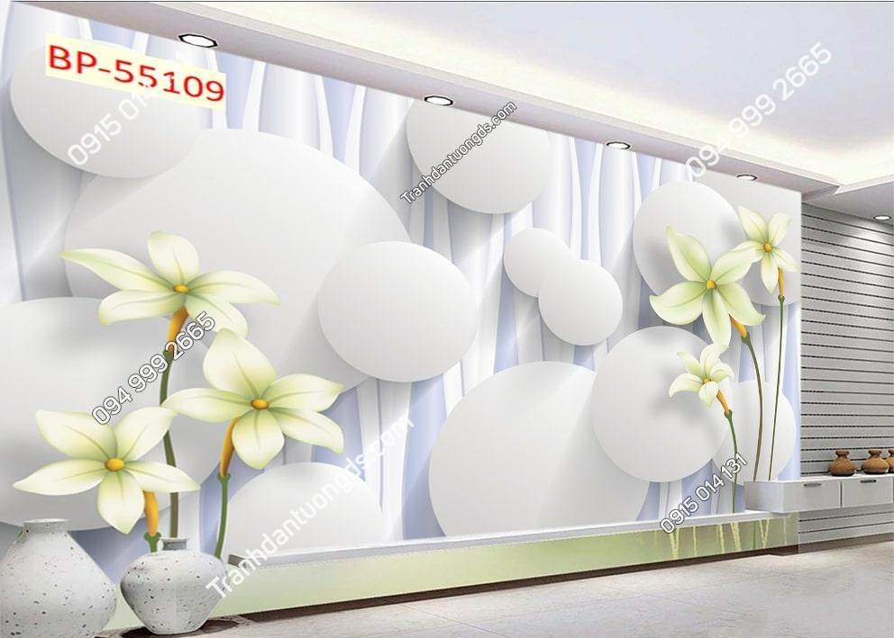 Tranh hoa hiện đại 3D 55109Tranh hoa hiện đại 3D 55109