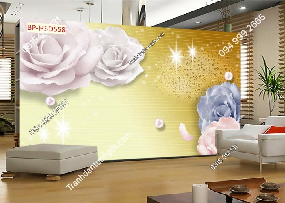 Tranh hoa hồng 3D H3D558