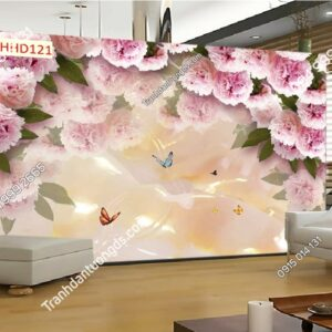 Tranh hoa hồng 3D HHD121