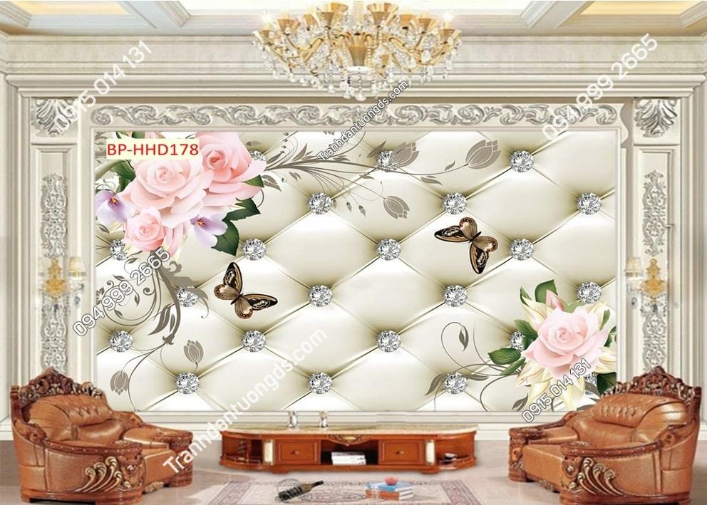 Tranh hoa hồng 3D HHD178