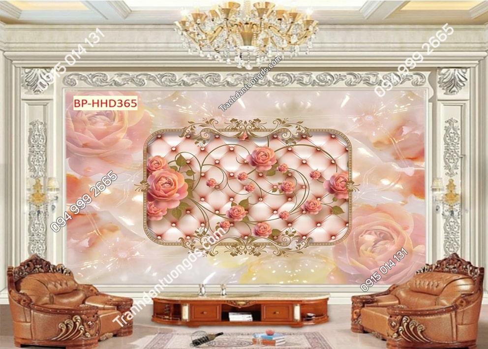 Tranh hoa hồng 3D HHD365