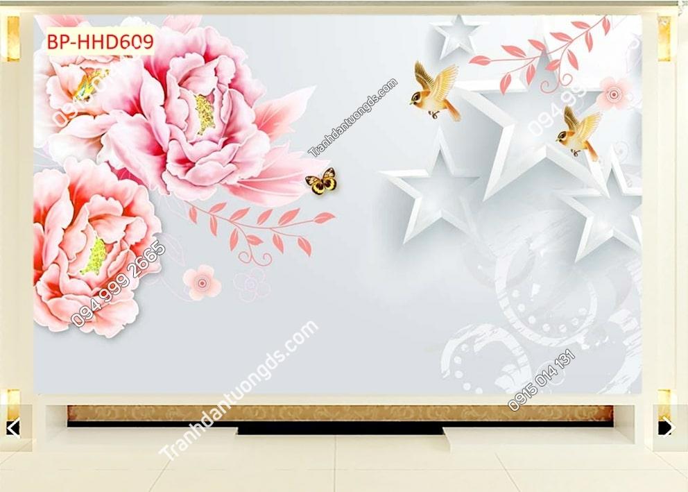 Tranh hoa hồng 3D HHD609