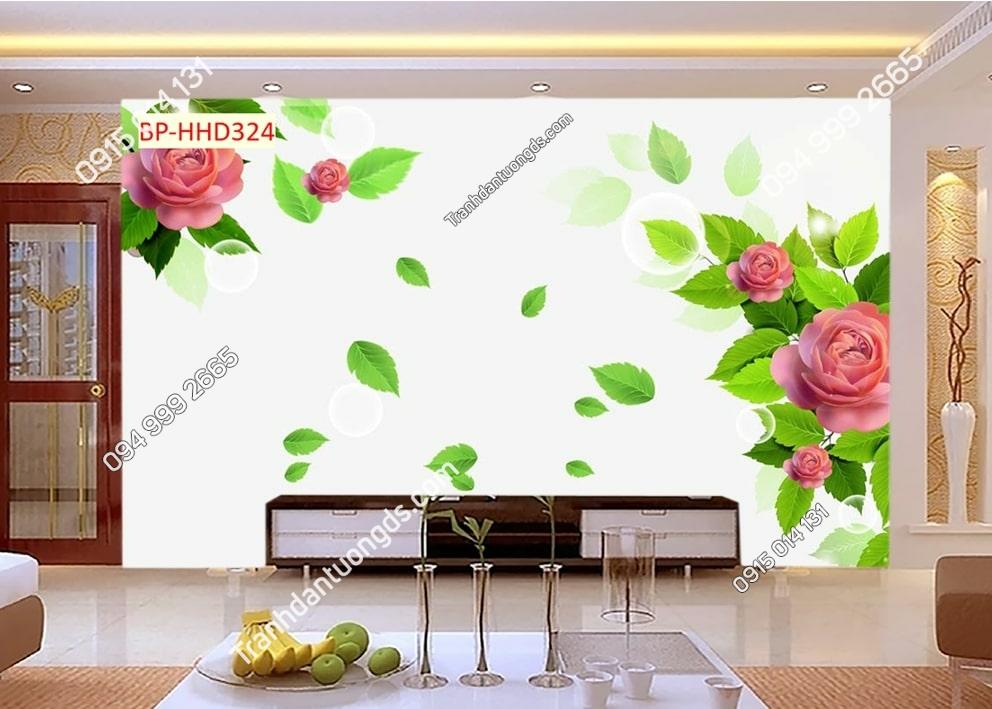 Tranh hoa hồng hiện đại HHD324