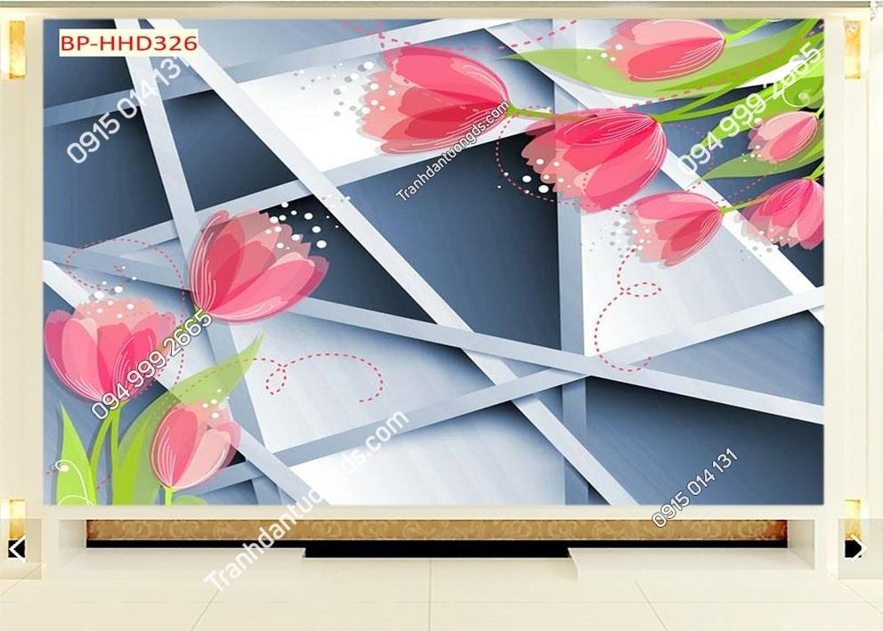 Tranh hoa hồng hiện đại HHD326