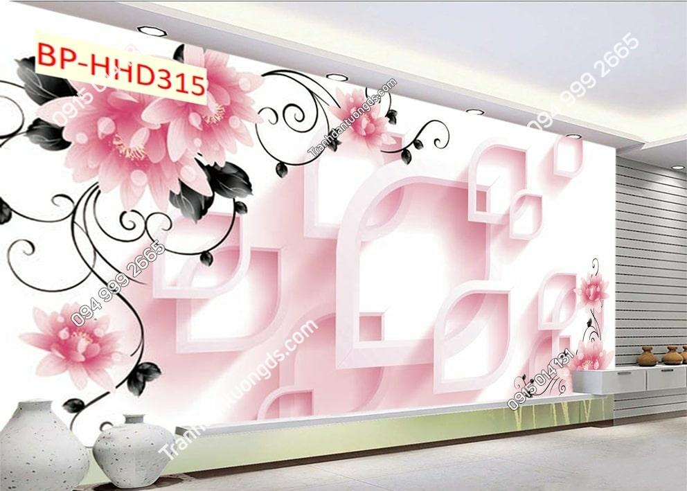 Tranh hoa hồng hiện đại dán phòng khách HHD315