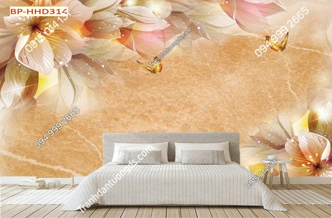 Tranh hoa hồng hiện đại dán phòng ngủ HHD314