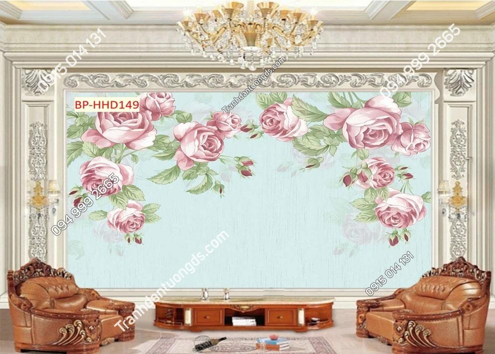 Tranh hoa hồng kiểu vẽ HHD149