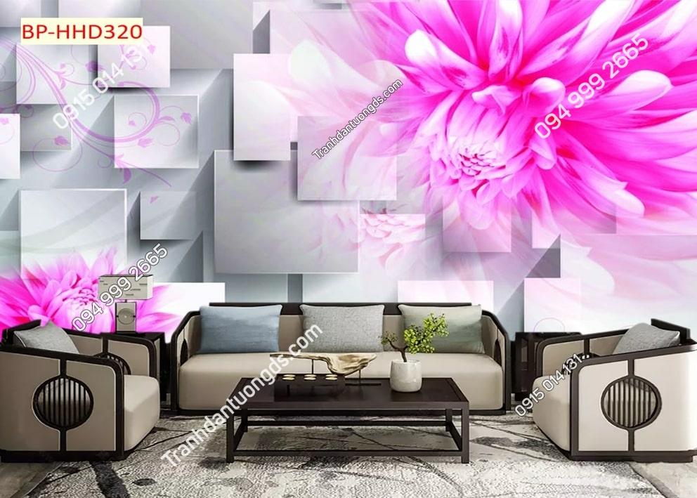 Tranh hoa hồng tím 3D hiên đại HHD320