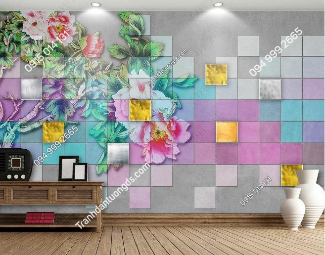 Tranh hoa khuyết 3D dán tường DS_18480515