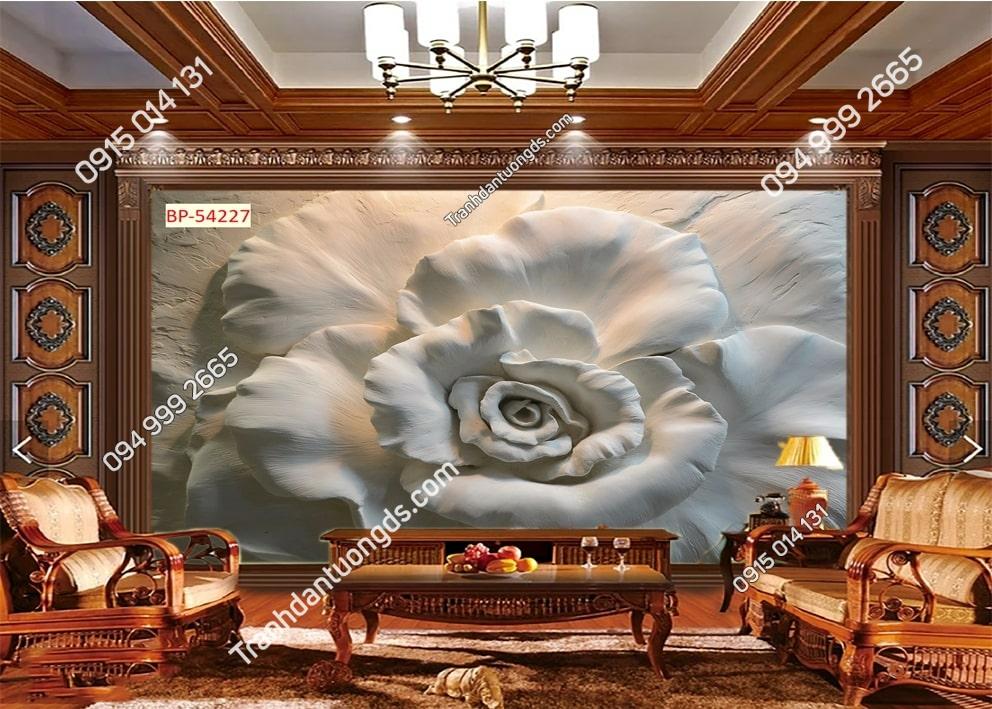 Tranh hoa kiểu điêu khắc 3D 54227
