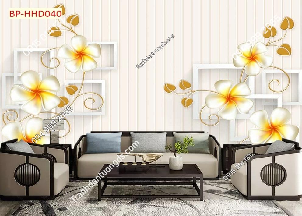 Tranh hoa leo nhụy vàng HHD040