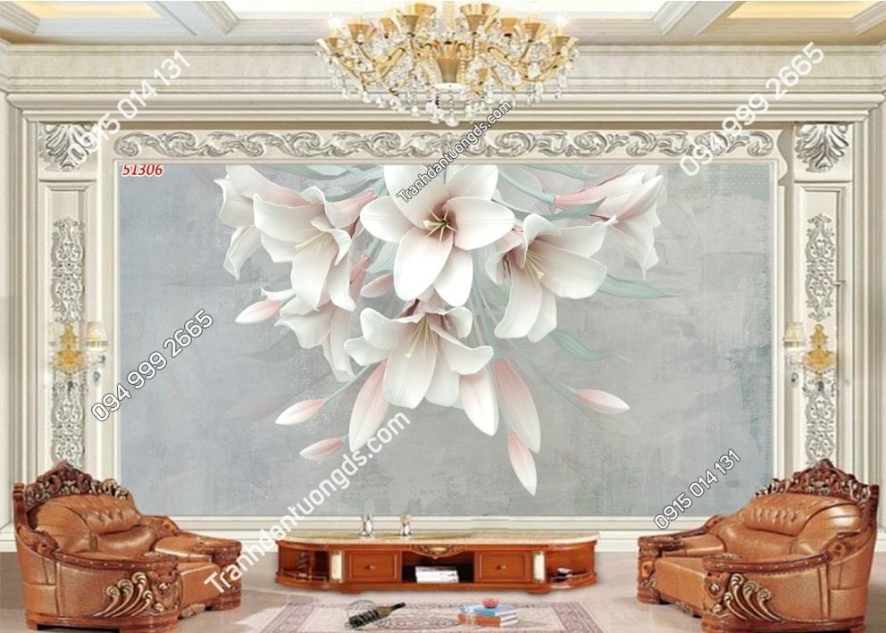 Tranh hoa loa kèn 3D 51306