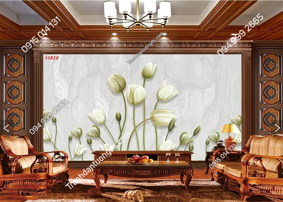Tranh hoa ly trắng hiện đại 51828