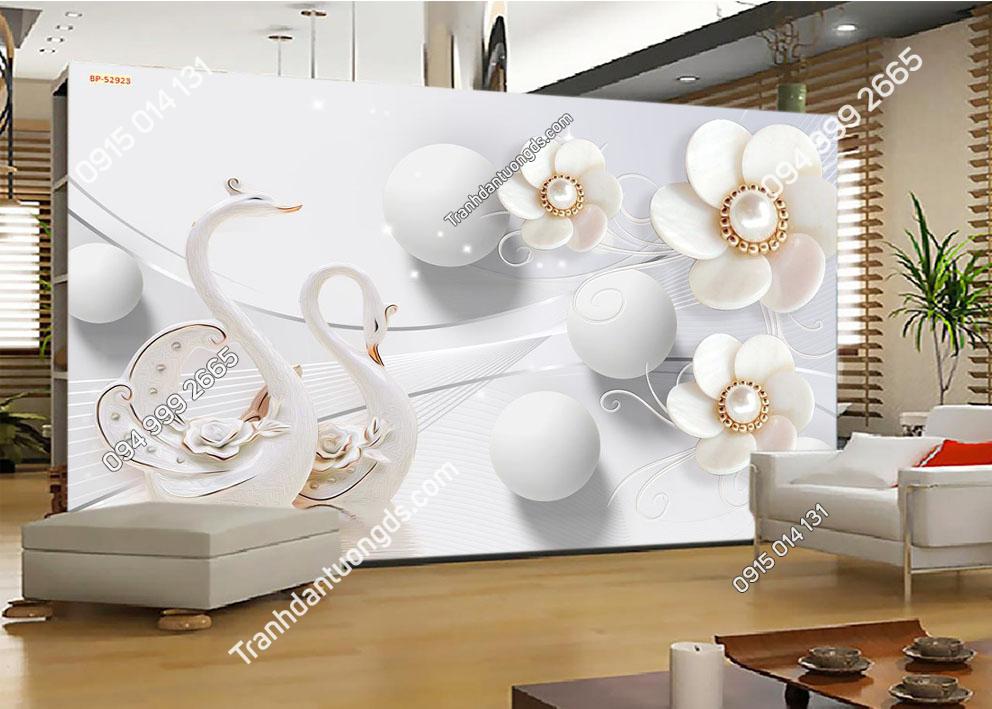 Tranh hoa ngọc trai 52923