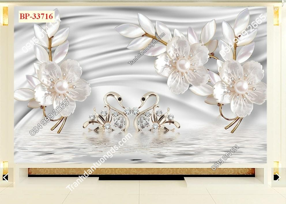 Tranh hoa nhụy ngọc trai 33716
