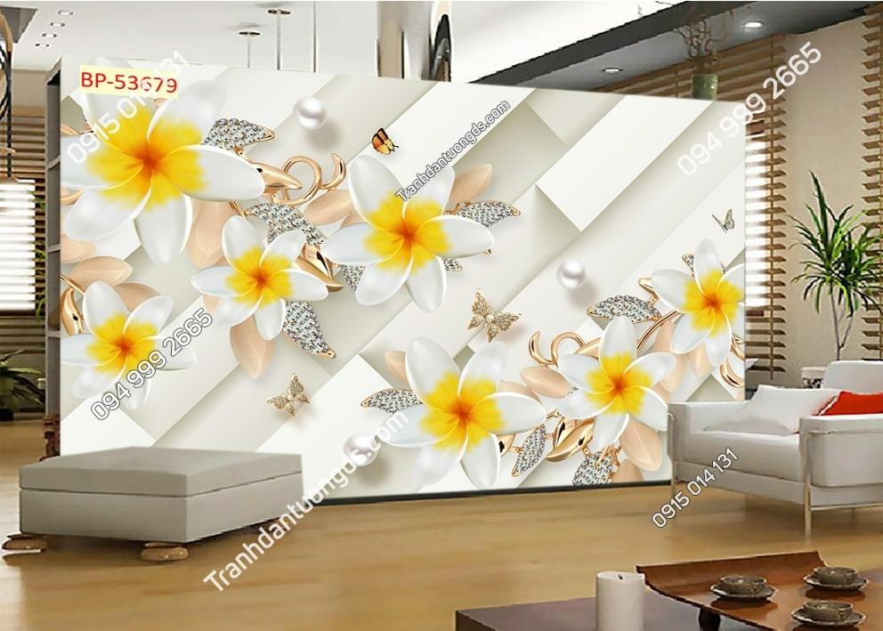 Tranh hoa nhụy vàng 3D 53679