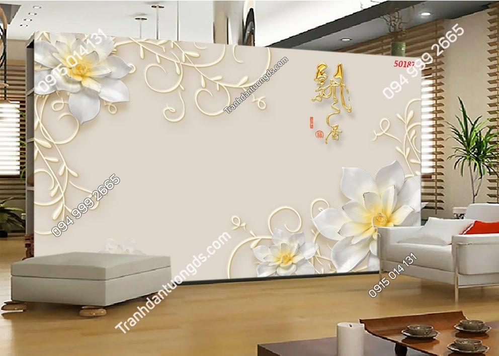 Tranh hoa nổi 3D hiện đại 50187