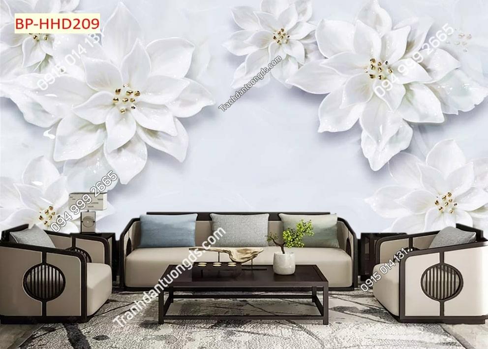 Tranh hoa trắng muốt HHD209
