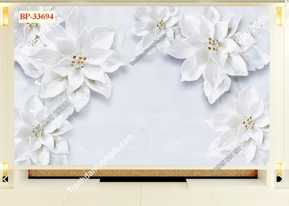 Tranh hoa trắng như tuyết 33694