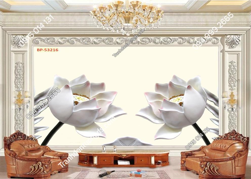 Tranh hoa trắng phòng khách 53216