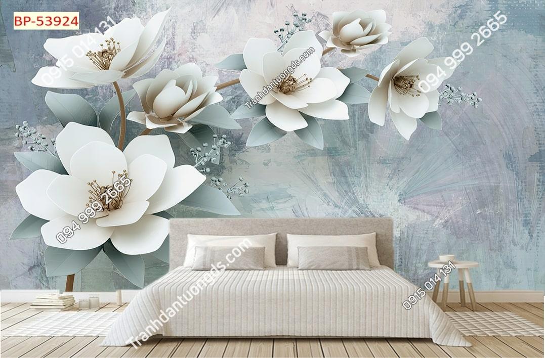 Tranh hoa tường sơn hiện đại 3D 53924