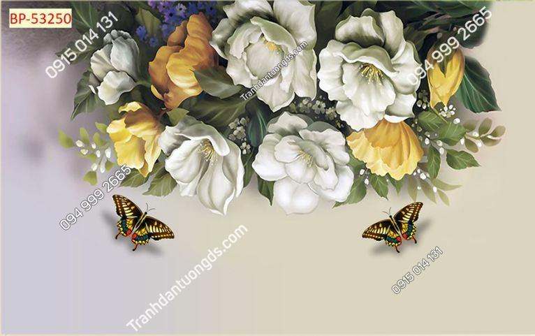 Tranh hoa và bướm 53250