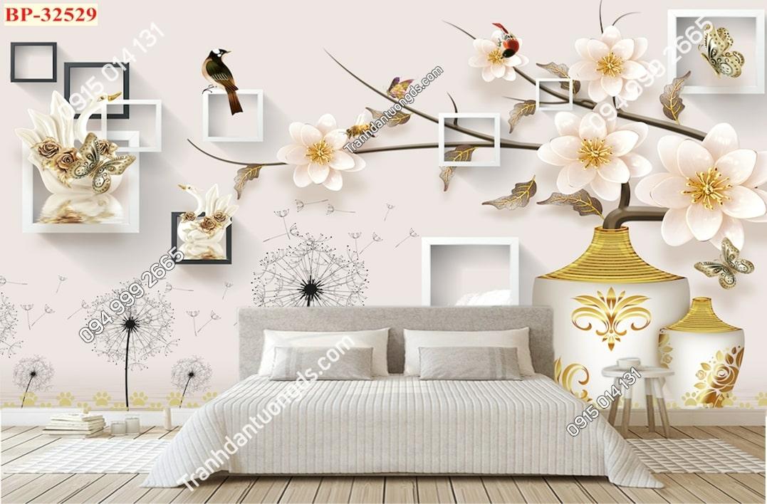 Tranh hoa và chim hiện đại 32529