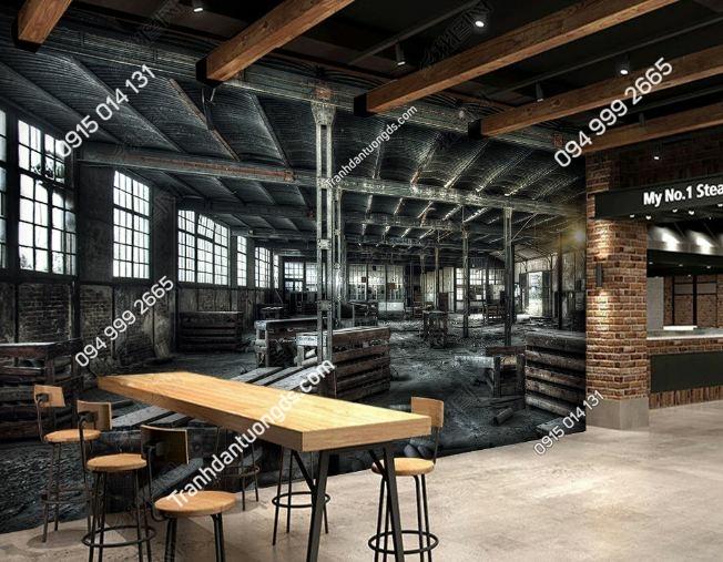 Tranh kho hàng cũ 3D cho quán cafe DS_15309185