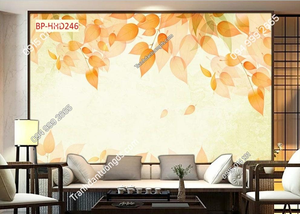 Tranh lá cây vàng HHD246