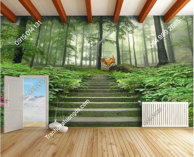 Tranh lối lên rừng 3D DS_18941771