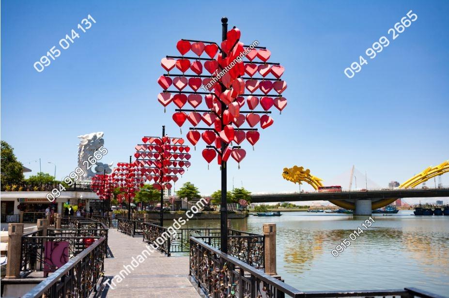 Tranh một góc nhìn cầu rồng Đà nẵng 676774576